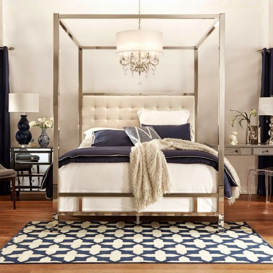 Chrome bed frame