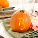 Monogrammed Pumpkins for Your Thanksgiving Table