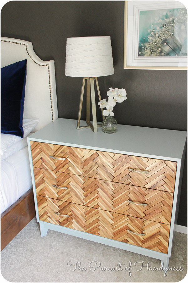 herringbone dresser side table