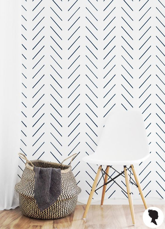 modern herringbone wallpaper