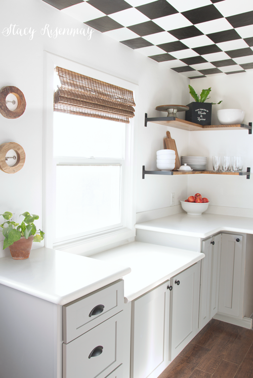 After I Painted My Kitchen White, The Cabinets (which Were Cream) Just  Looked Dingy. I Was So Excited For A Change In Color And Style!