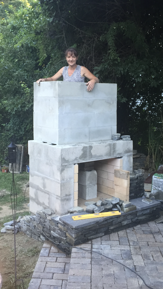DIY Outdoor Fireplace - Stacy Risenmay on Diy Outside Fireplace id=73393
