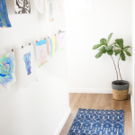 Displaying Children's Artwork {Hallway Makeover}