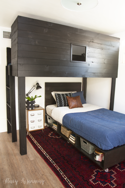 DIY modern boys beds
