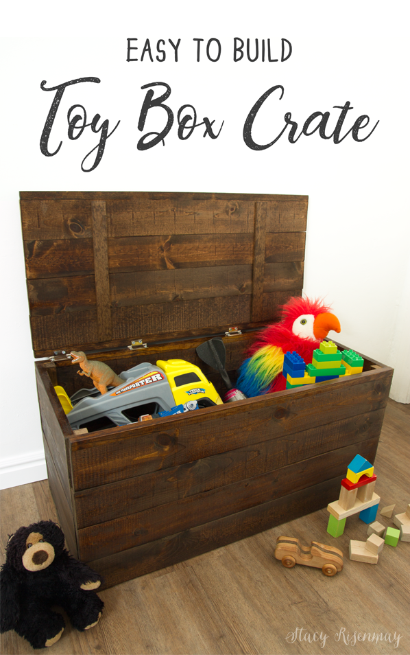 Easy to build toy box crate stacy risenmay Build your own toy chest