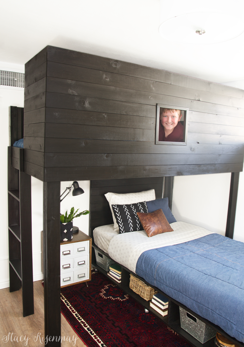 modern loft bed for tween