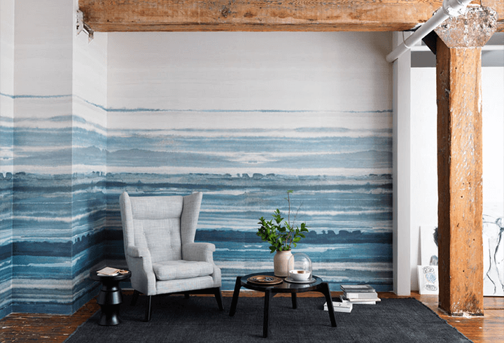 watercolor wall mural