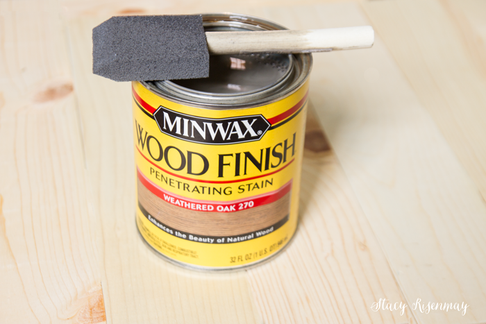 Minwax stain in Weather Oak