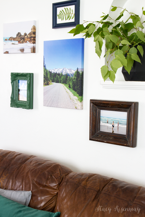 Gallery wall with canvas prints