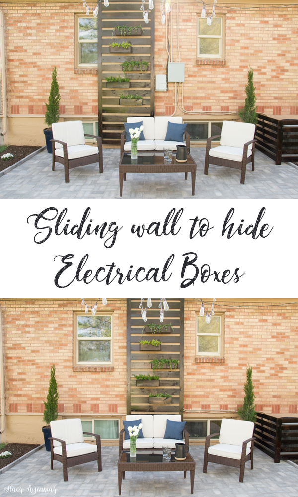 sliding wall that hides electrical boxes