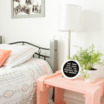Pulling Things Together {Coral & Gray Teen Room}