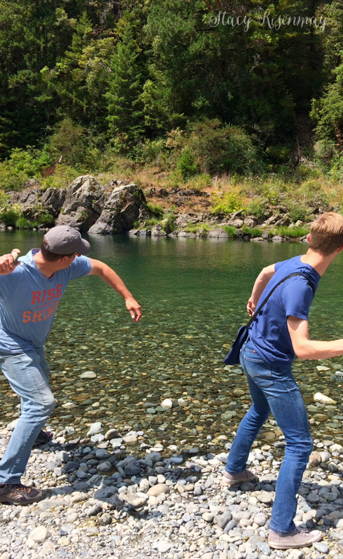 Skipping rocks on the Jedediah Smith river