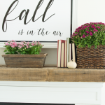 Fall Mantel {Pink and Magenta!}