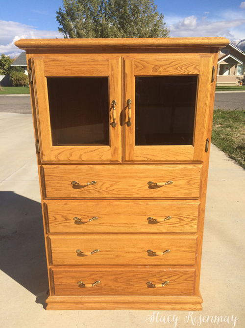oak dresser from the 1990s