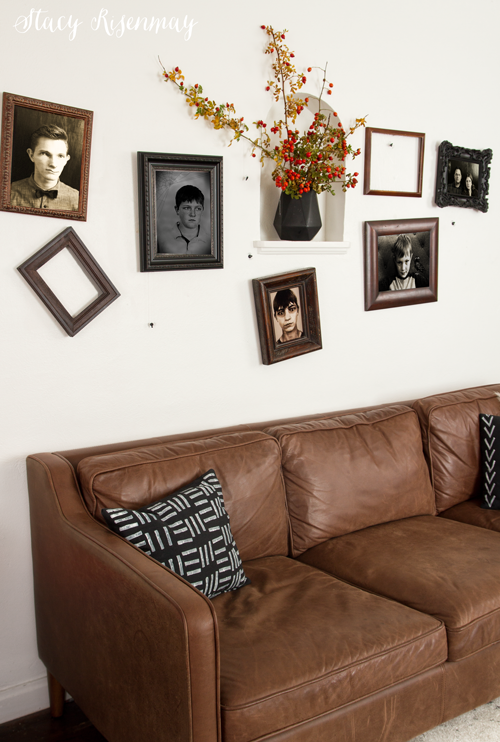 Creepy Halloween gallery wall with old photos