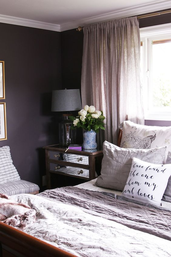 purple guest room