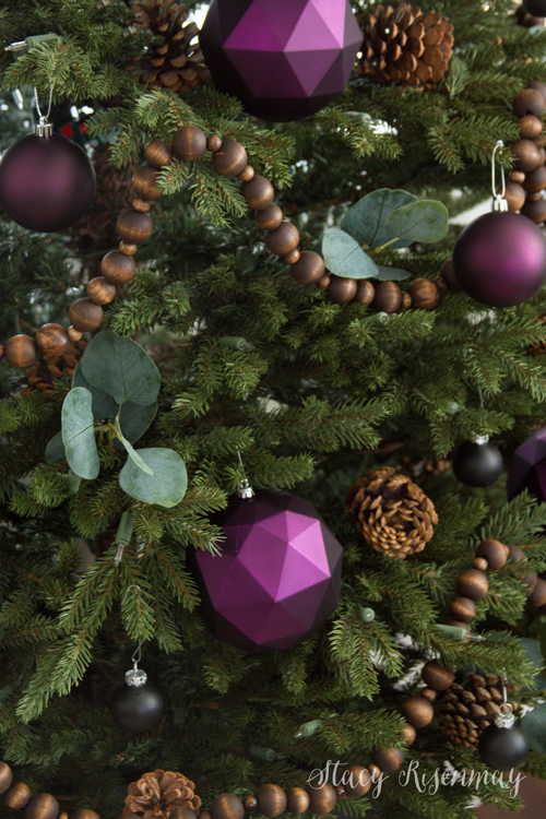 Plum ornaments for Christmas tree