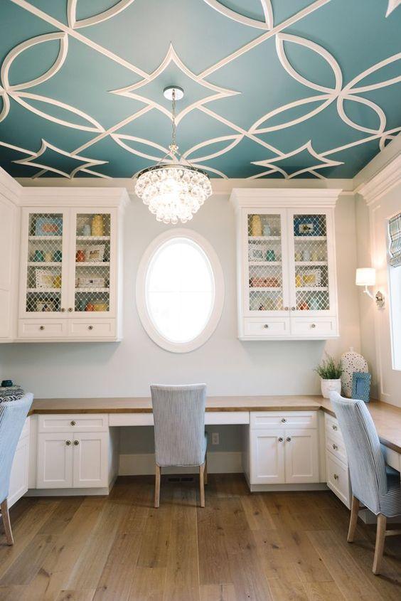 custom molding on ceiling