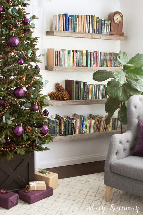 purple Christmas home decor