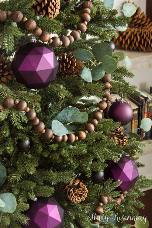 Purple ornaments for Christmas tree
