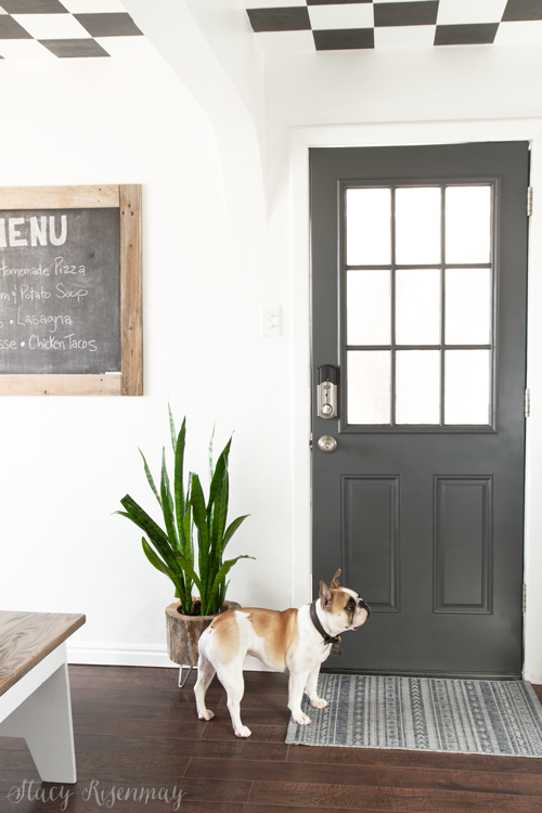 gray kitchen door