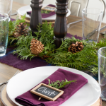 Plum Christmas Tablescape