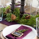 Plum Christmas Tablescape