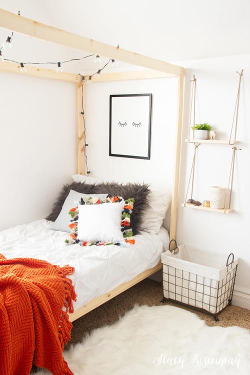 Bohemian bedroom for teen girl