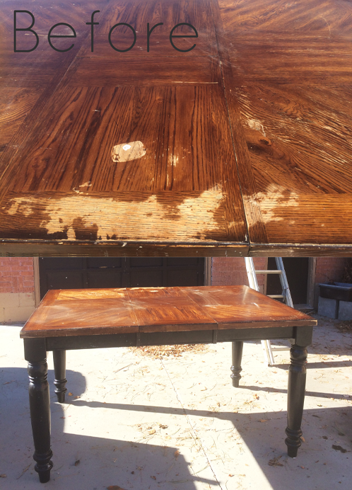 old table before makeover