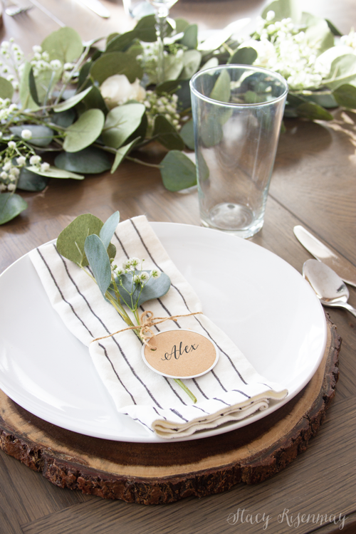 farmhouse tablesetting