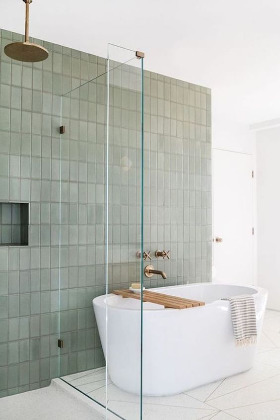 Sage green tile