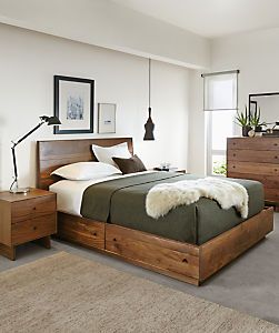 bed with drawers built in