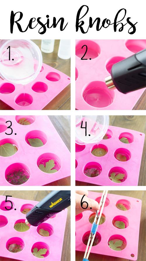 making resin knobs