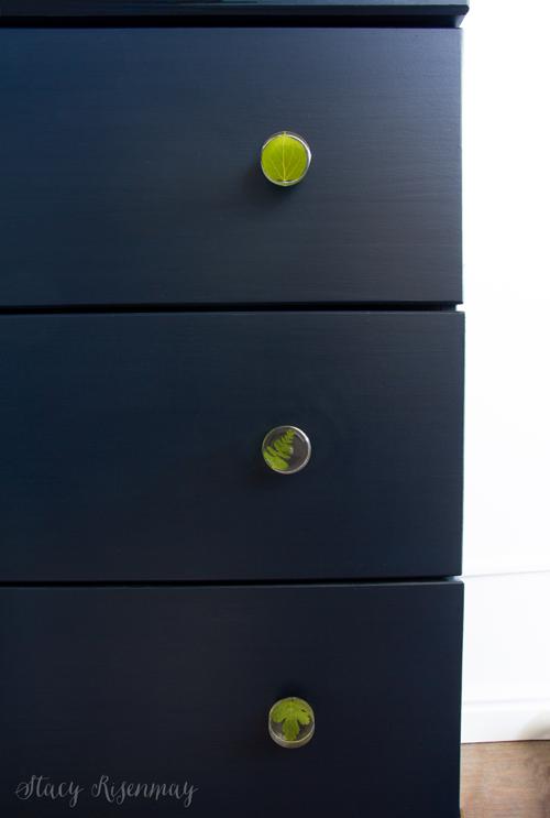 resin leaf knobs on dresser