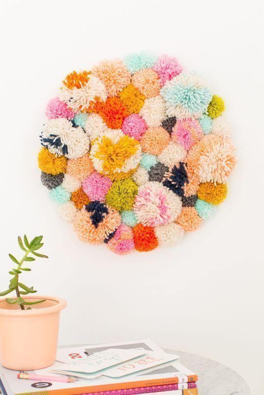 pompom wall hanging