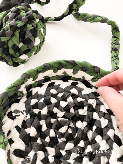 sewing a braided basket