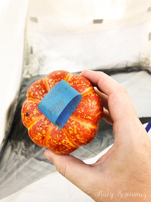 tape in faux pumpkin