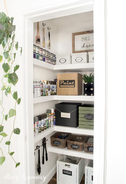 office closet all organized