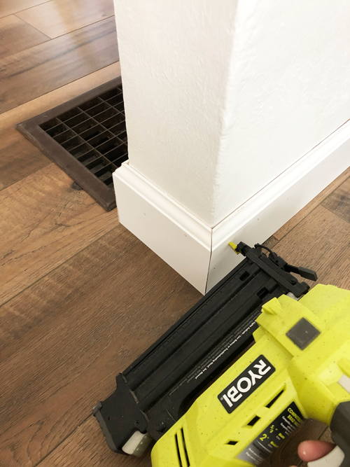 nailing on baseboards