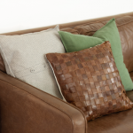 DIY Woven Leather Pillow