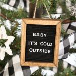 Mini Letter Board Ornaments
