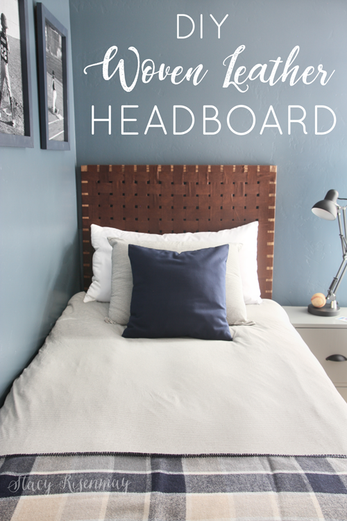 Woven Leather Headboards - Stacy Risenmay