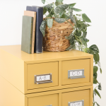 Metal Card Catalog Makeover