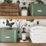 Bathroom Refresh REVEAL {Spoiler Alert… It's Green!}