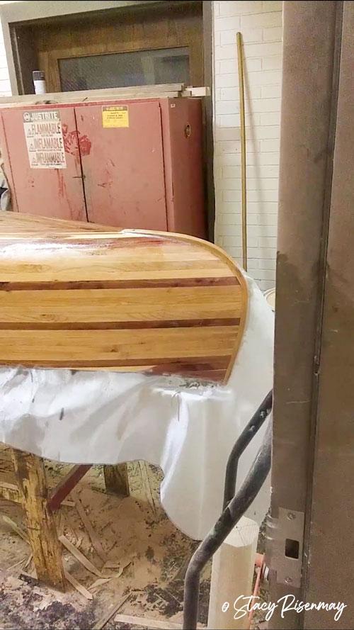 making a wood canoe