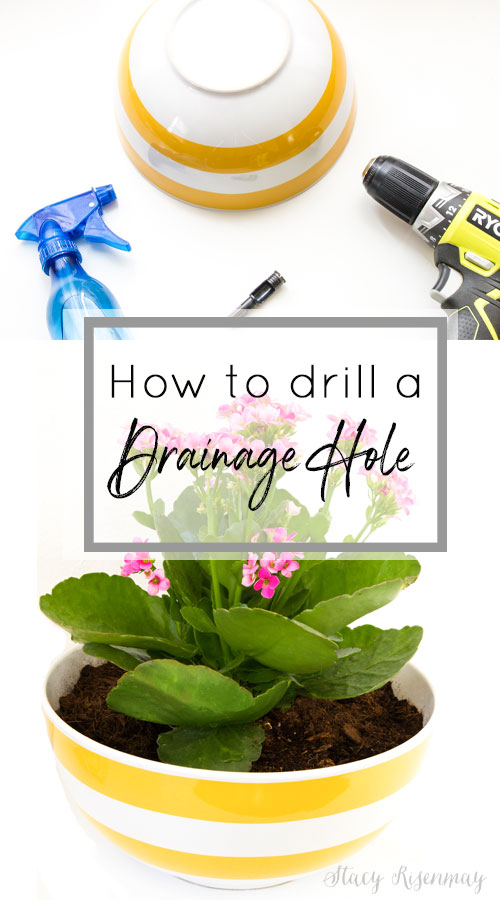 How to drill a drainage hole in ceramic, glass, or clay