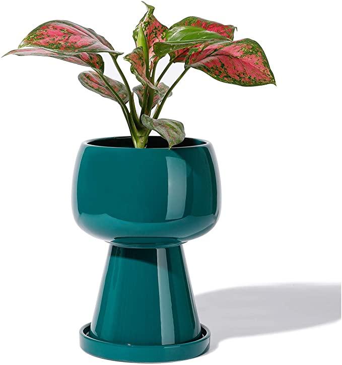 modern pedestal planter