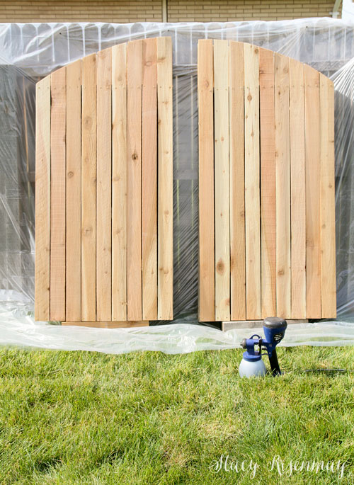 building an arched backyard gate