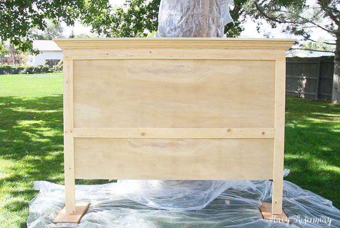 DIY wood headboard